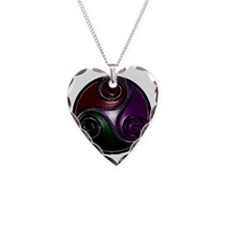 triskell Necklace Heart Charm