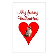 Furry Valentine Cat2 Postcards (Package of 8)