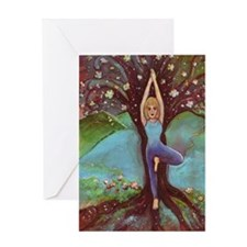 Yogini in Tree Pose Greeting Card