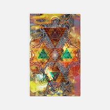 Metatron-Colorscape-Mandala-Poster 3'x5' Area Rug