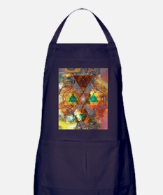 Metatron-Colorscape-Mandala-Poster Apron (dark)