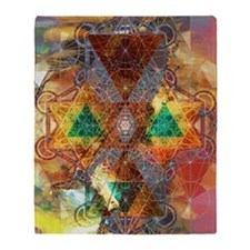 Metatron-Colorscape-Mandala-Poster Throw Blanket