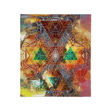 Metatron-Colorscape-Mandala-Poster Throw Blanket