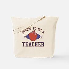 Collegiate Proud Teacher Tote Bag