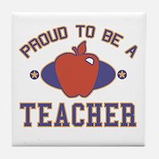 Collegiate Proud Teacher Tile Coaster