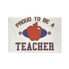 Collegiate Proud Teacher Rectangle Magnet