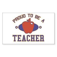 Collegiate Proud Teacher Rectangle Stickers