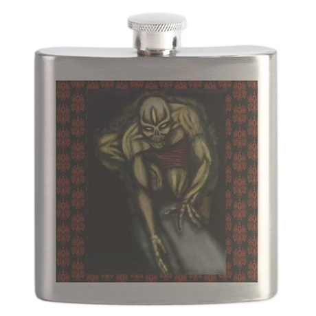 along comes a spider 11x11 200dpi Flask