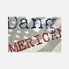 Dang American Rectangle Magnet