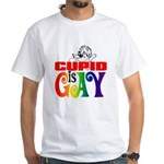 CUPID IS GAY White T-Shirt