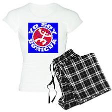 Yo Soy Boricua white-Red Pajamas