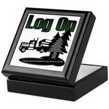 LOG ON DESIGN SEMI AND TREES.gif Keepsake Box