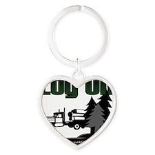 LOG ON DESIGN SEMI AND TREES.gif Heart Keychain