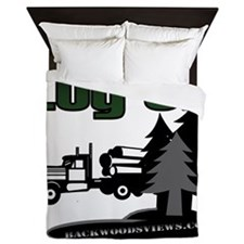 LOG ON DESIGN SEMI AND TREES.gif Queen Duvet