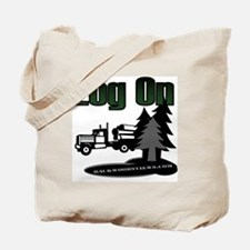 LOG ON DESIGN SEMI AND TREES.gif Tote Bag