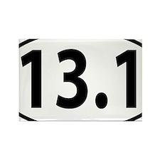 13.1 - half marathon Rectangle Magnet