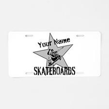Custom Skateboards Aluminum License Plate