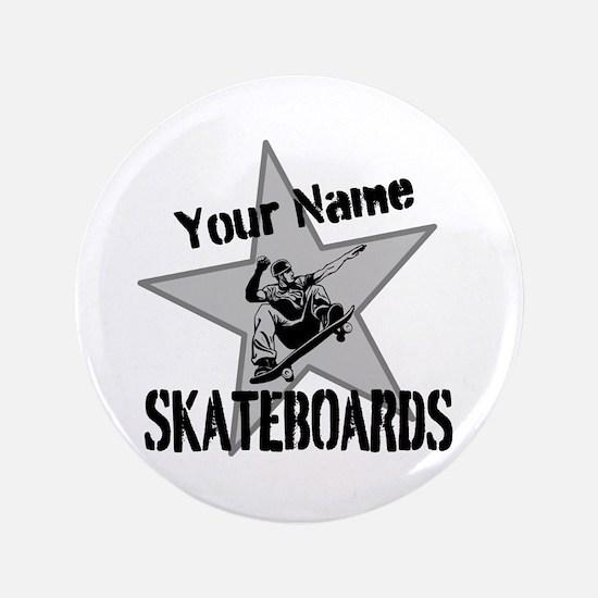 "Custom Skateboards 3.5"" Button"