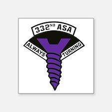"332nd ASA Big Purple Screw Square Sticker 3"" x 3"""