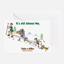 take a hike-FINAL-color2 Greeting Card