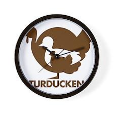 Turducken_brown Wall Clock