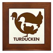 Turducken_brown Framed Tile