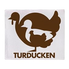 Turducken_brown Throw Blanket
