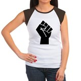 Black power fist Women's Cap Sleeve T-Shirt