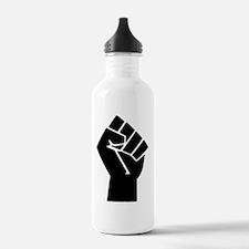 black-powerTransparent Water Bottle