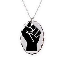 black-powerTransparent78ipad Necklace Oval Charm
