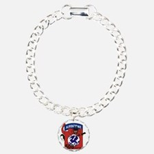 508th PIR Charm Bracelet, One Charm