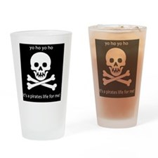 skull1 Drinking Glass