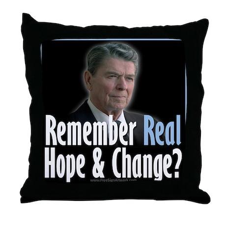 Reagan Hope Change Throw Pillow