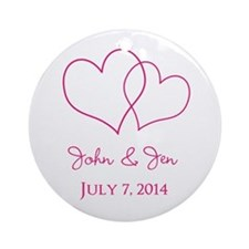 Custom Wedding Favor Ornament (Round)