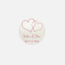 Custom Wedding Favor Mini Button (10 pack)