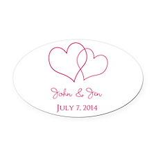 Custom Wedding Favor Oval Car Magnet