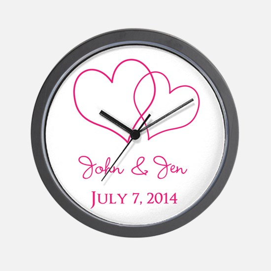 Custom Wedding Favor Wall Clock
