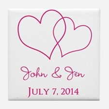 Custom Wedding Favor Tile Coaster