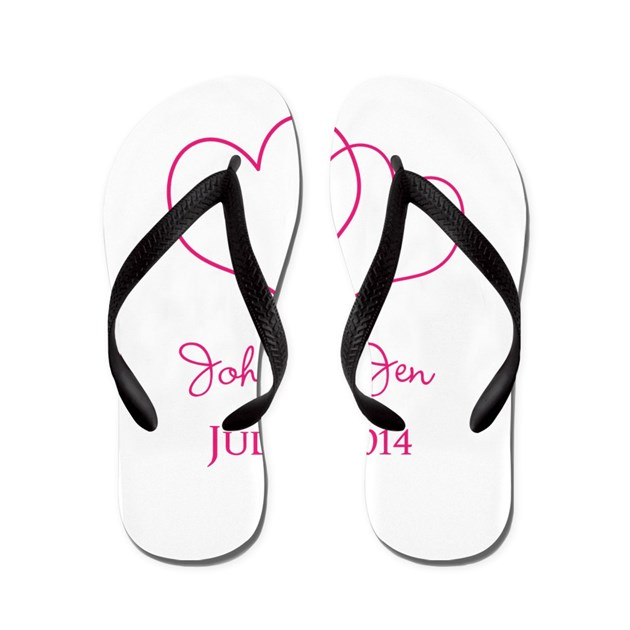 custom wedding favor flip flops by fashionstinks