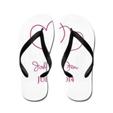 Custom Wedding Favor Flip Flops