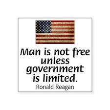 Reagan - Man is Not Free Sticker