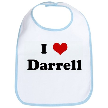 I Love Darrell Bib