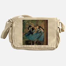 Dancers in blue by Edgar Degas Messenger Bag