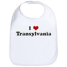I Love Transylvania Bib