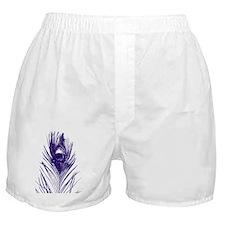 purple peacock  feather stadium Boxer Shorts