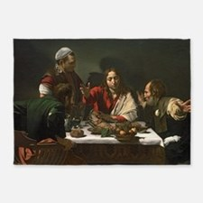 The Supper at Emmaus by Michelangel 5'x7'Area Rug