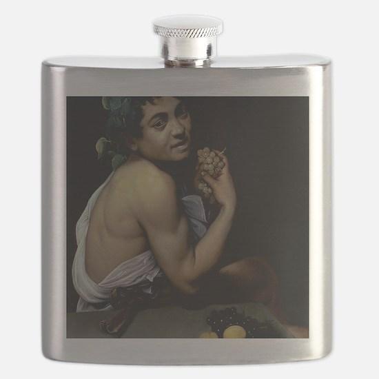 The Sick Bacchus by Michelangelo Caravaggio Flask