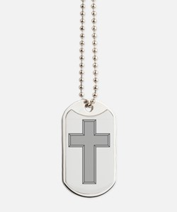 Silver Cross Dog Tags