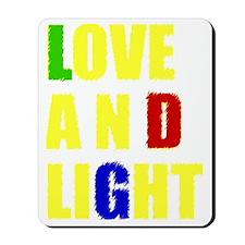 loveandlight_yellow Mousepad