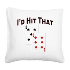 idhitthat Square Canvas Pillow